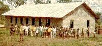 [Some Bible Institute students  by Church, Congo]
